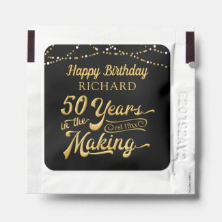 50th Birthday 50 YEARS IN THE MAKING Party Favor Hand Sanitizer Packet