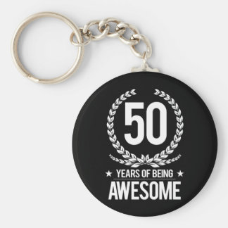 50th Birthday (50 Years Of Being Awesome) Keychain
