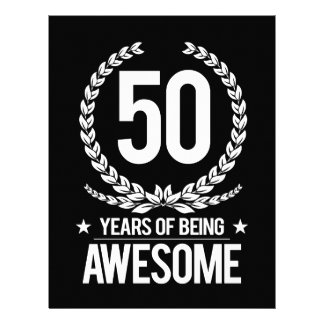 50th Birthday (50 Years Of Being Awesome) Letterhead
