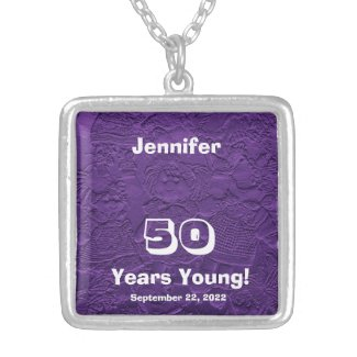 50th Birthday 50 Years Young Dolls Necklace