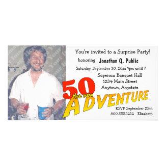 50th Birthday Adventure Party Photo Invitation Personalized Photo Card