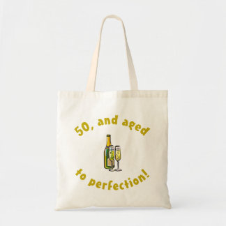50th Birthday Aged To Perfection Canvas Bags