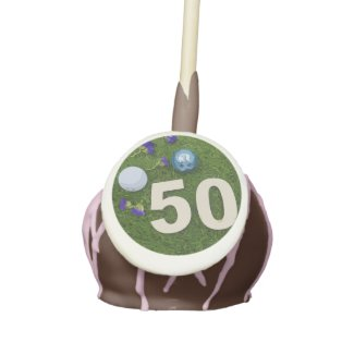 50th birthday anniversary golfer with golf ball cake pops