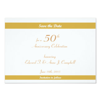 50th Birthday/Anniversary Save the Dates Card
