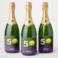 50th birthday anniversary to tennis player champagne label