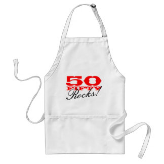 50th Birthday apron | Fifty Rocks!