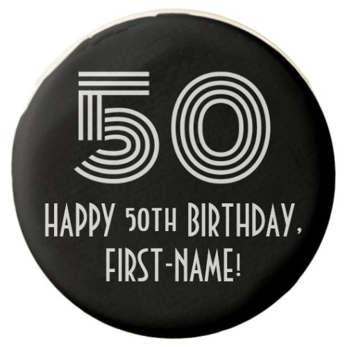 50th Birthday _ Art Deco Inspired Look 50 Name Chocolate Covered Oreo