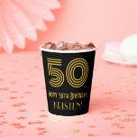 "[ Thumbnail: 50th Birthday: Art Deco Inspired Look ""50"" & Name ]"
