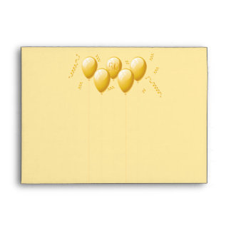50th Birthday Bash Gold Balloons Envelope
