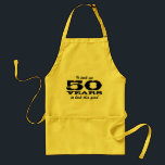"50th Birthday bbq aprons for men | yellow<br><div class=""desc"">50th Birthday bbq aprons for men 