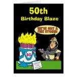 50th Birthday Blaze Card