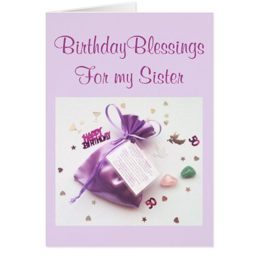 50th Birthday Blessings Birthday Card for a Sister – Sister 50th Birthday Cards