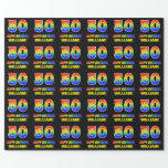 [ Thumbnail: 50th Birthday: Bold, Fun, Simple, Rainbow 50 Wrapping Paper ]
