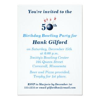 50th Birthday Bowling Party Invitation