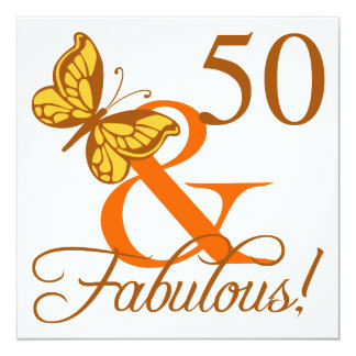 50th Birthday Butterfly Card