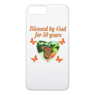 50TH BIRTHDAY BUTTERFLY iPhone 8 PLUS/7 PLUS CASE