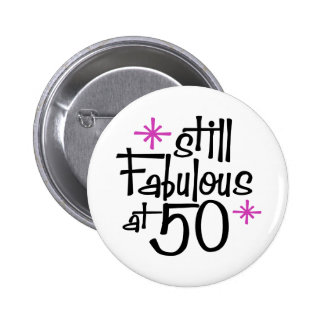 50th Birthday Button