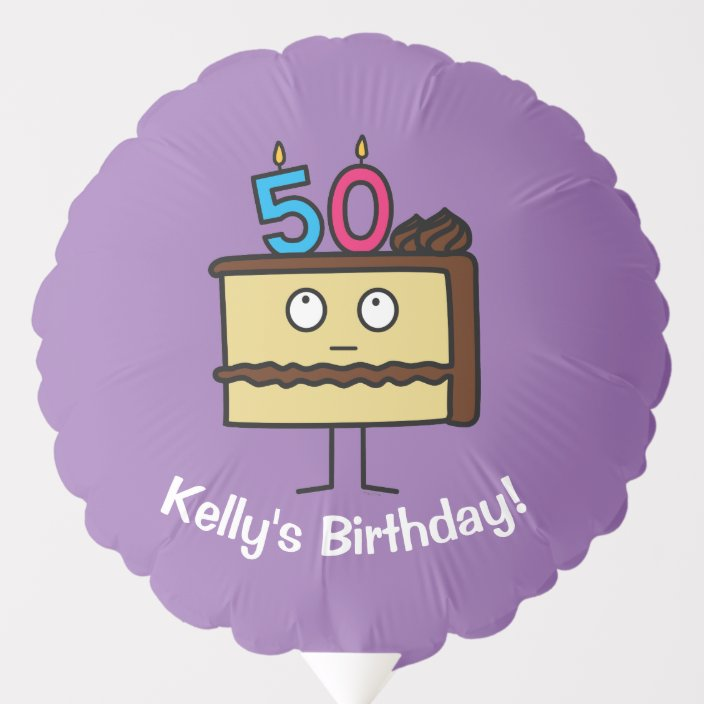 Magnificent 50Th Birthday Cake With Candles Chocolate Icing Balloon Zazzle Com Personalised Birthday Cards Vishlily Jamesorg