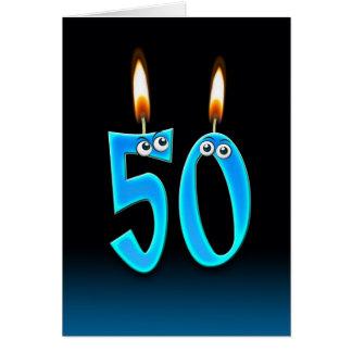 50th Birthday Candles Card