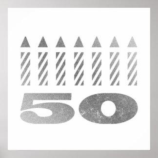 50th Birthday Candles Print