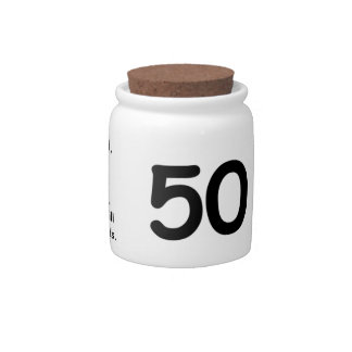 50th Birthday Candy Jar - Funny - Pizza Humor