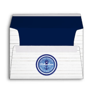 50th Birthday Captain Nautical Rope Anchor Helm Envelope