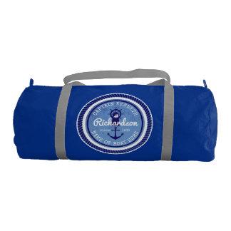 50th Birthday Captain Nautical Rope Anchor Helm Gym Bag