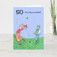 50th Birthday Card for a Golfer