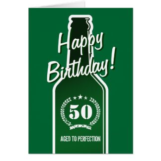 50th Birthday card for men | Aged to perfection Cards