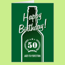 50th Birthday card for men | Aged to perfection