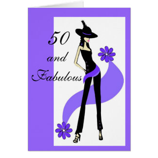 50th Birthday Card for Women