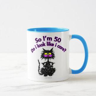 50th Birthday Cat Gifts Mug