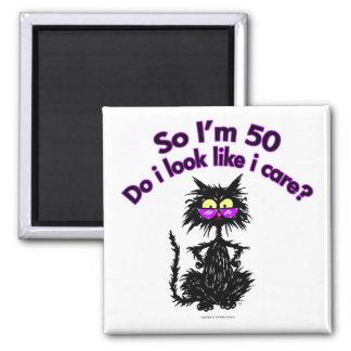50th Birthday Cat Magnet
