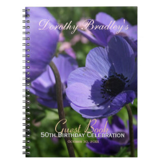 50th Birthday Celebration Customizable Guest Book Spiral Notebook