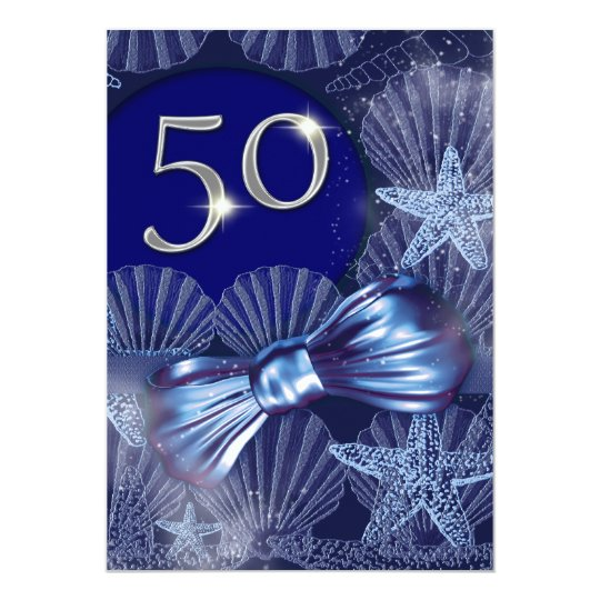 50th birthday celebration party major CUSTOMIZE Card