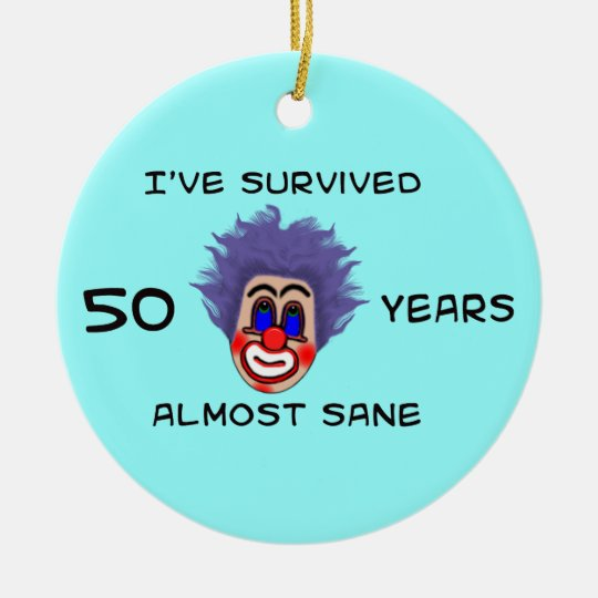 50th Birthday Ceramic Ornament