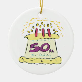 50th Birthday Ceramic Ornament