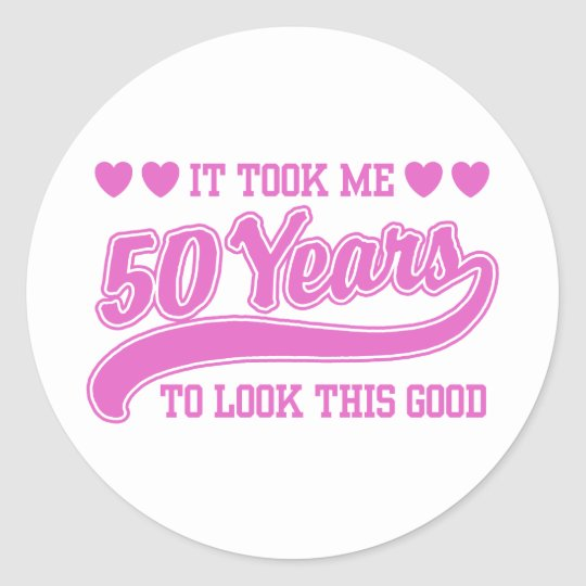 50th Birthday Classic Round Sticker