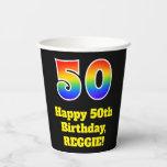 [ Thumbnail: 50th Birthday: Colorful, Fun, Exciting, Rainbow 50 ]