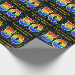 [ Thumbnail: 50th Birthday: Colorful Music Symbols, Rainbow 50 Wrapping Paper ]