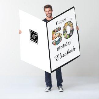 50th Birthday Create Your Own Multi Photo Jumbo Card