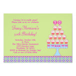50th Birthday Cupcakes Invitation