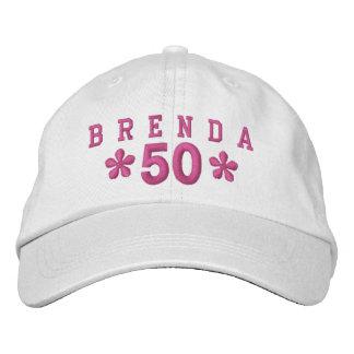 50th Birthday Custom PINK Embroidery H50C Baseball Cap