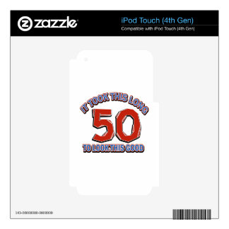 50th birthday design decals for iPod touch 4G