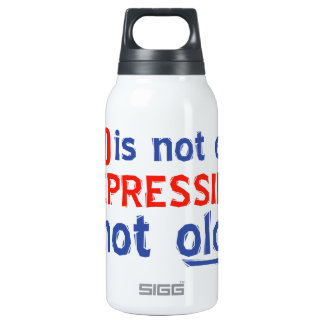 50th birthday designs insulated water bottle
