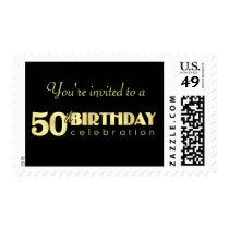 50th Birthday - Elegant Party Invitation Postage
