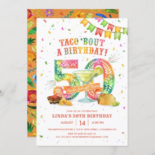 50th Birthday Fiesta Invitation
