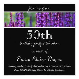 50th Birthday Floral Invitation
