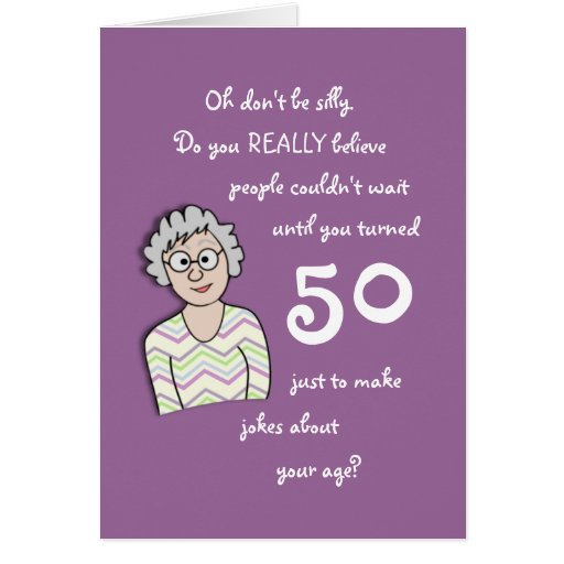 50th Birthday For Her-Funny Card