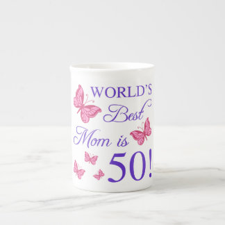 50th Birthday For Mom Tea Cup